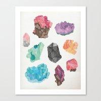 Raw Gems Canvas Print