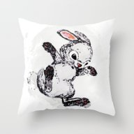 Rabbit1 Throw Pillow