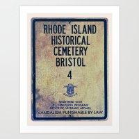 Historical Cemetery Bristol, RI Art Print