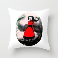 The wind is coming Throw Pillow