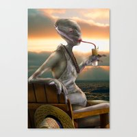 Alien Abroad Canvas Print