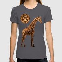 Three Giraffes Womens Fitted Tee Asphalt SMALL