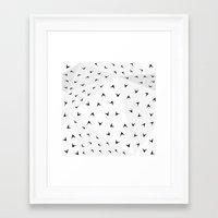 Folded Arrows Pattern Framed Art Print