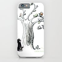 Little Cat and birdy iPhone 6 Slim Case