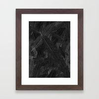 Feathered (Black). Framed Art Print