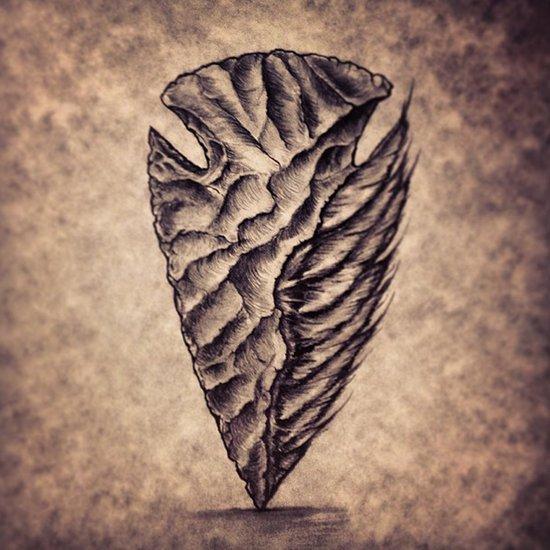 Feathers and Arrowheads Art Print