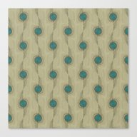 Canvas Print featuring Turquoise Circles Patter… by Corbin Henry