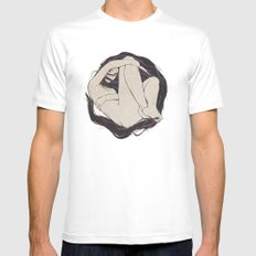 My Simple Figures: The Circle White SMALL Mens Fitted Tee