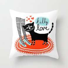 Kitty Love Throw Pillow