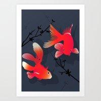 Like A Fish In The Sea Art Print