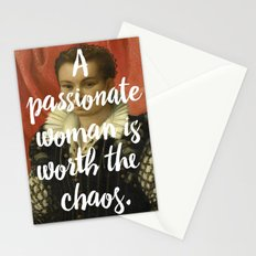A PASSIONATE WOMAN IS WORTH THE CHAOS Stationery Cards