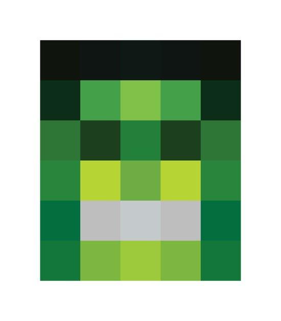 hero pixel green black Art Print