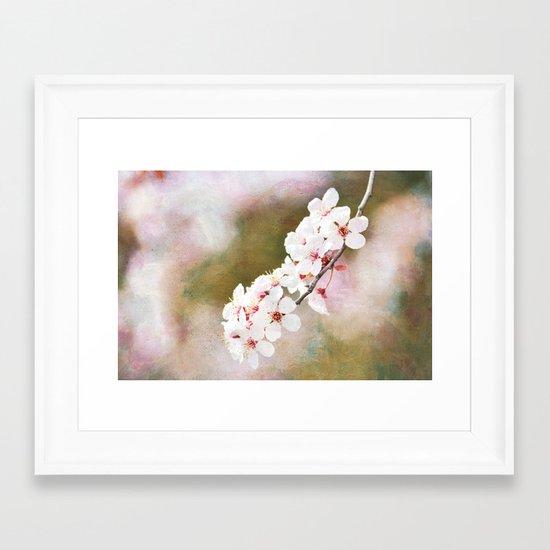 Pretty Cherry Blossom Flowers Framed Art Print