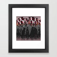 Year of the Snake: blazing banners Framed Art Print