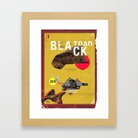 The Black Toad project Framed Art Print
