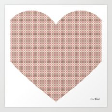 I love you this much... (light purple) Art Print