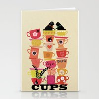 Cups! Stationery Cards