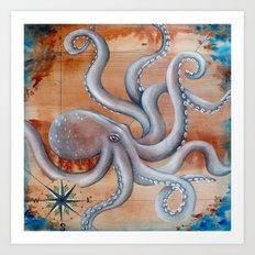 Octopus Adventure Art Print