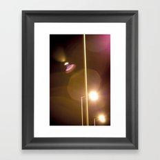 Lensflare Framed Art Print