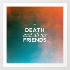 Death And All His Friends Art Print