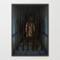 Pixel Art series 6 : Pyramid Canvas Print