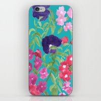 Blue Floral Print iPhone & iPod Skin