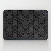 Halloween Damask Grey iPad Case