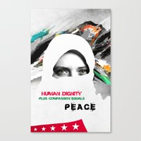 Freedom For Syria Canvas Print