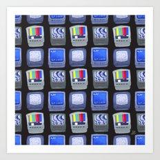 TV Pattern Art Print