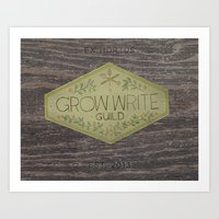 Grow Write Guild Seal Art Print