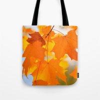 Yellow-orange Autumn Tote Bag