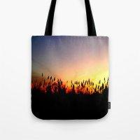 Sunset Reeds Tote Bag