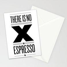 No X in Espresso – Black Stationery Cards