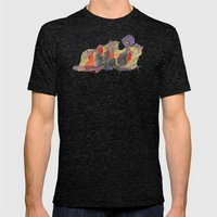 CRAYON LOVE - Shadows  Mens Fitted Tee Tri-Black SMALL