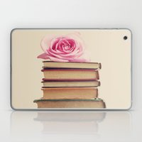 Old Books and Pink Rose Laptop & iPad Skin