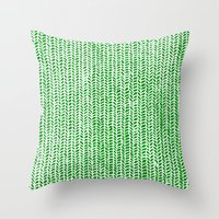 Stockinette Green Throw Pillow