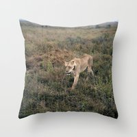 Lone Lion. Throw Pillow