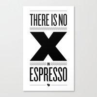 No X In Espresso – Bla… Canvas Print