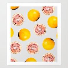 Grapefruit Pattern #society6 #decor #buyart Art Print