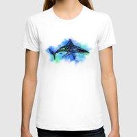 shark T-shirts featuring Shark by Riaora Creations