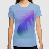Painted Feather Womens Fitted Tee Athletic Blue SMALL