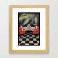 T-Rex Birthday Framed Art Print