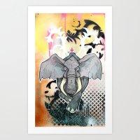 Stampede Part 1 Art Print