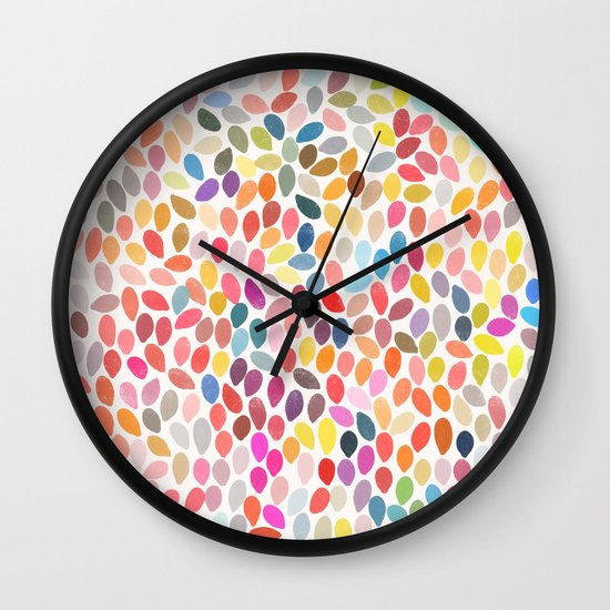 rain 3 sq Wall Clock