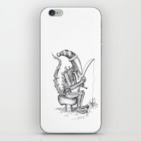 iPhone & iPod Skin featuring Alien gnome by ronnie mcneil