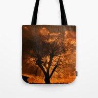 Romantic Evening Tree Tote Bag
