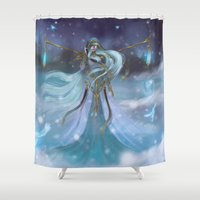 Lady Winter Shower Curtain