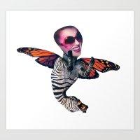 ZEBRA FLY Art Print
