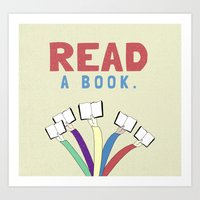 Read A Book. Art Print