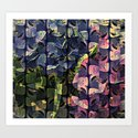 Floral Striped Abstract Art Print
